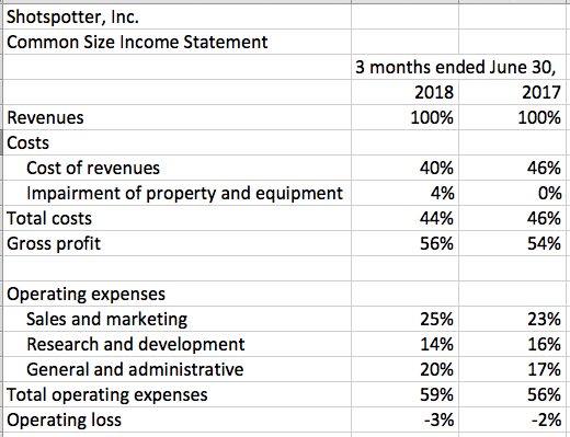 how to analyze an income statement common size